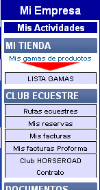 Menu Club ecuestre